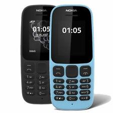 """Nokia 105 1.8"""" UK Double Sim Débloqué Téléphone Portable-Noir/Bleu"""