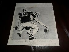 1961 TOPPS ORIGINAL ART 1/1 ARTWORK FOOTBALL CARD BACK 27 TOM FRANKHAUSER DALLAS