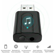 Bluetooth 5.0 AUX Audio Transmitter Receiver USB Adapter For TV PC Car Speaker