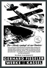 ORIG insegne Fieseler Storch Marine isola Samotracia Egeo AVIAZIONE Kassel 1942
