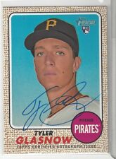 2017 Topps Heritage TYLER GLASNOW Real One AUTO RC SP Pirates #ROA-TG Blue Ink