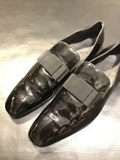 GUCCI PATENT LEATHER DRESS SLIP ON LOAFERS US SIZE 11 - 11.5 SHOES AUTHENTIC