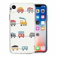 For Apple iPhone XR Silicone Case Steam Train Pattern - S2810