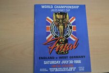 1966 World Cup Final ENGLAND v WEST GERMANY  Football Programme VG Cond