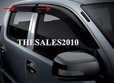 4 DOOR WINDOW VENT VISOR WEATHER GUARDS for TOYOTA HILUX VIGO SR5 MK6 2005-2014