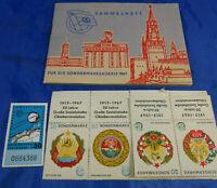 Sammelheft für die Sondermarkenserie 1967 50 Jahre Oktoberrevolution Sowjetunion