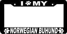 Norwegian Buhund Dog paw print License Plate Frame