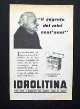 C810 - Advertising Pubblicità - 1953 - IDROLITINA IL SEGRETO DEI CENT'ANNI
