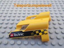 Lego 1 Panel 1 große Löcher gelb Seite A beklebt TECHNIC   32190pb08