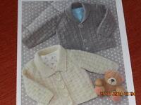Child's Cardigan  size 16-26  knitting pattern