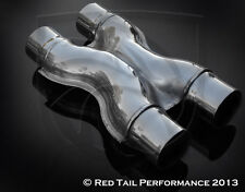 """Red Tail Exhaust Muffler Tip X Pipe 2.25"""" Inlet 2.25"""" OD X-pipe Tube"""
