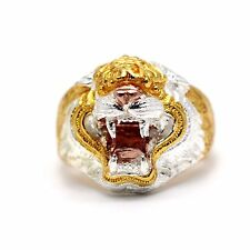 LP Pern Yant Talisman Tiger Ring Size 21 Luck protection Blessed Thai Amulet