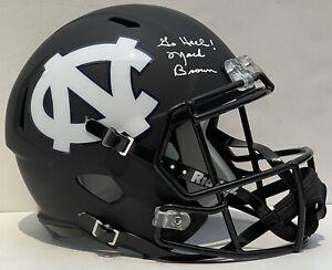 Mack Brown Signed Autographed UNC North Carolina Tar Heels Custom F/S Helmet JSA