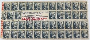 .VERY UNUSUAL 1971 60 STAMP SPECIAL DELIVERY ENVELOPE, CIVIL COURT, QUEENS USA.