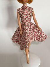 Vintage Barbie Handmade Swing style Floral Dress 1960s Ooak Flared Skirt