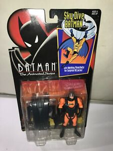 Batman The Animated Series Sky Dive Batman With Working Parachute Kenner 1992