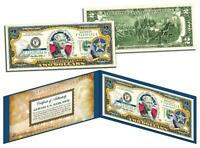 OKLAHOMA Statehood $2 Two-Dollar Colorized U.S. Bill OK State *Legal Tender*
