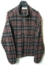 Vintage Woolrich Polartec Plaid Fleece Jacket 1/4 Zip Pullover Sweater Men's XL