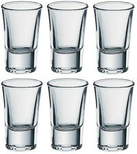6x Borgonovo Junior Shot Vodka Glass 35ml Set Glassware Drink Bar Pub Party