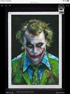 "Sideshow ""JOKER"" (why so serious). art print (sealed)"