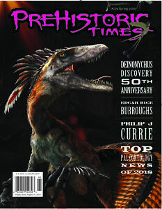 NEW #129 Latest Issue Prehistoric Times dinosaur magazine PT Spring 2019 !o