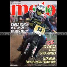 MOTO VERTE N°114-b KERVELLA CARLQVIST MOTOBECANE KW SUZUKI ER 21 FANTIC 240 1983