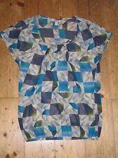 Esprit T-Shirt Shirt schickes Top, Gr. XXS / Gr. 32, Gr. XS, blau gelb, w. neu