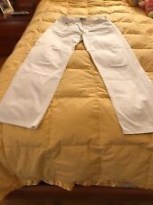 Dolce & Gabbana Made in Italy Designer Cotton Jeans in White Size 32 (46).