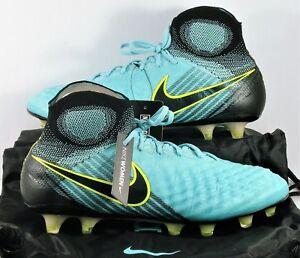 Nike Magista Obra II FG Flyknit ACC Black Soccer Cleats Sz 6.5 NEW 844205 400