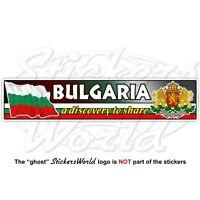 BULGARIA Bulgarian Flag-Coat of Arms, National Emblem Vinyl Decal, Sticker 180mm