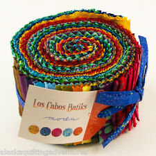 "Moda FABRIC Jelly Roll ~ LOS CABOS BATIKS ~  40 - 2.5"" strips"