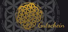 50 Geschenkgutscheine Gutscheinkarten Goldlook  sehr Edel Blume des Lebens