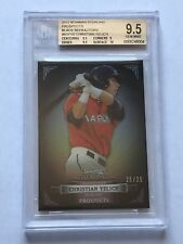 2012 Bowman Sterling - CHRISTIAN YELICH (RC) - Rookie - BLACK REFRACTOR # 25/25