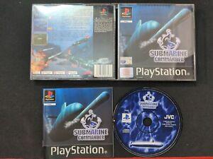 PS1 Submarine Commander Sony PlayStation Black Label SLES 02728