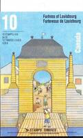 Canada 1995 Booklet #175b Fortress of Louisbourg, with tab inscription