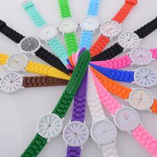 Fashion Simple Silicone Jelly Sports Quartz Wrist Watch Women Mens Boys Girls