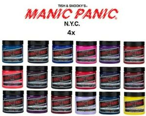 4 x Manic Panic High Voltage Classic Cream Formula Hair Color All Colours 118ml