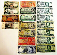 LOT18 BANKNOTES PAPER MONEY CANADA BAHAMAS 3 CONSEC. RUSSIA VENEZUELA CAYMAN N/R