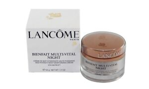 LANCOME BIENFAIT MULTI-VITAL NIGHT HIGH POTENCY MOISTURIZING CREAM 50g 1.7oz TST