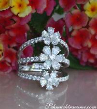 De ensueño anillo de diamante en diseño flores 2.39 CT. TW vs trébol 750 a partir de 9000 €