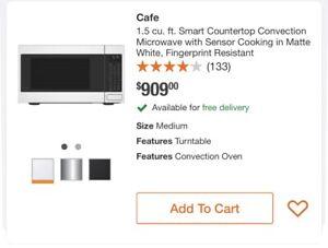"GE Café CEB515P2NSS 22"" Stainless 1.5 cu. Smart Countertop Microwave"