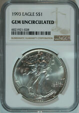 1993 Silver American Eagle / NGC GEM BU / Top Rated / Free Shipping
