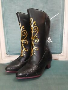 Disney Frozen Girl Toddler Anna New with tags.. Black Costume Boots Size 7/8