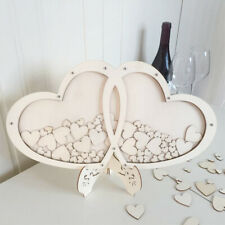 Wooden Frame Wedding Guest Book Drop Box Guest Book Rustic Love Heart Table