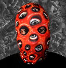 3d Efecto Rojo Ojos Esferas en toda la superficie Cara Piel Lycra Máscara