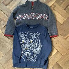 Boys Osh Kosh Jumper And Zara Sweatshirt Suit Age 6