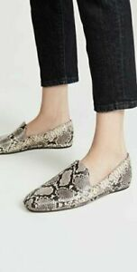 Vince Paz Natural Snake Print Leather Venetian Loafer - Size 7.5 M NEW $275