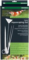 Dennerle Nano Aquascaping-Set, Schere, Pinzette, Kies-Spatel