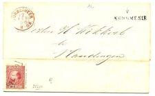 NEDERLAND 1868  LETTER CV WITH # 8  LS.= KROMMENIE  = FINE
