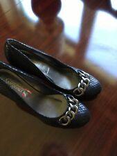 ladies black court shoes size 8